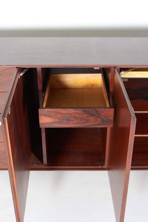 Mid-Century Modern George Nelson Rosewood Thin Edge Sideboard or Cabinet For Sale