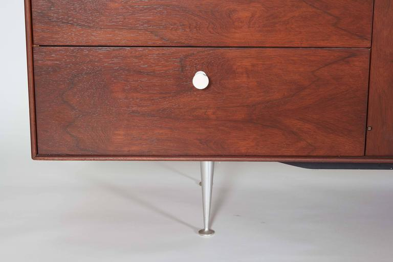 George Nelson Rosewood Thin Edge Sideboard or Cabinet In Excellent Condition For Sale In New York, NY