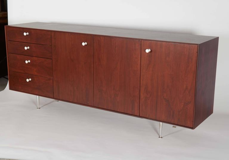 George Nelson Rosewood Thin Edge Sideboard or Cabinet For Sale 2