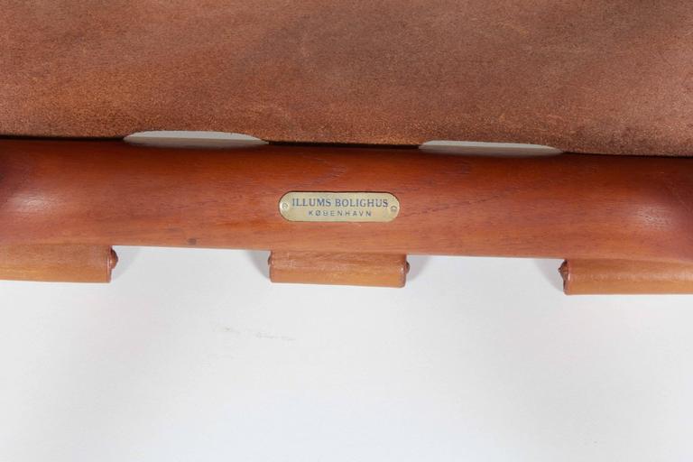 Danish Poul Hundevad Folding Stool For Sale