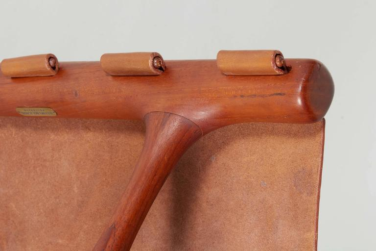 Poul Hundevad Folding Stool In Excellent Condition For Sale In New York, NY