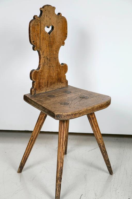 Wood Folk Art Chair