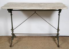 Antique Marble and Iron Patisserie Table