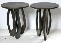 Pair of R & Y Augousti Alligator Side Tables