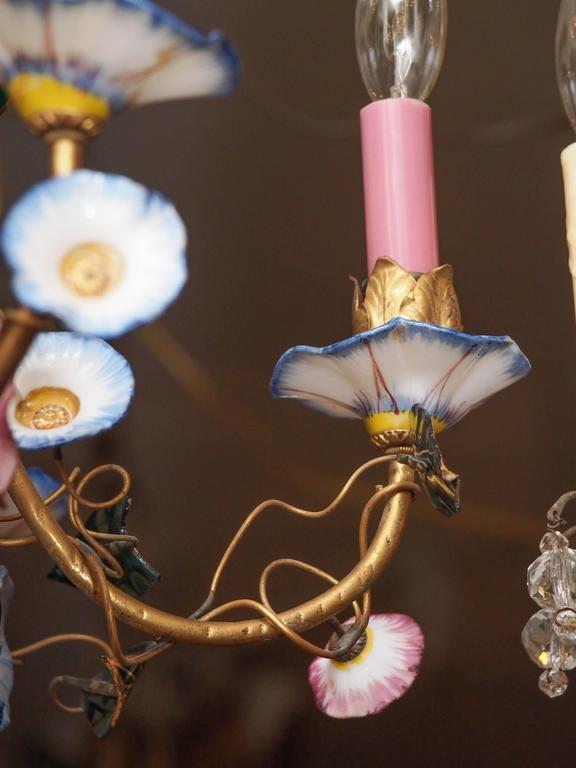 French Napoleon III Opaline Glass Chandelier 7