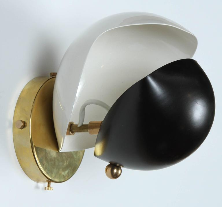Mid-Century Modern Double Shell Sconce by Jason Koharik for Collected by