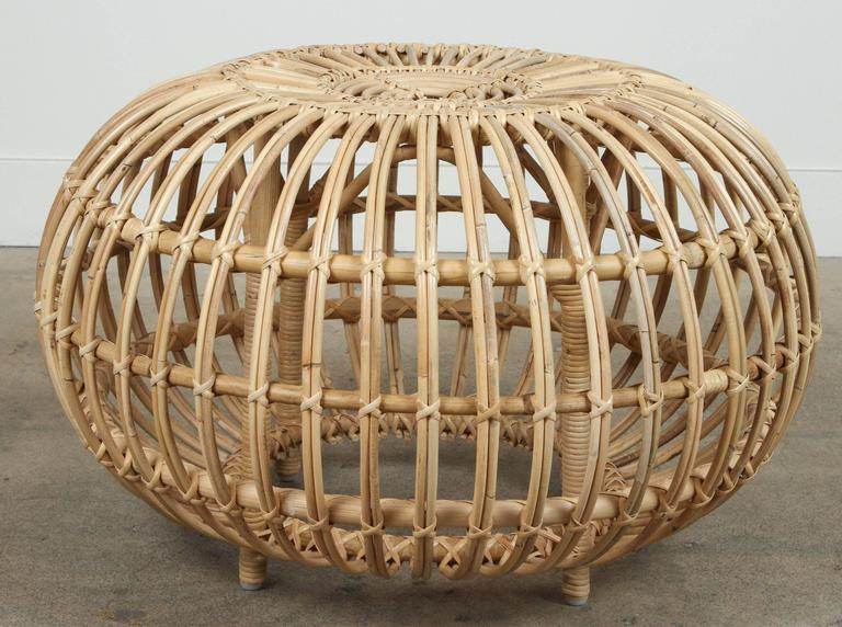 Rattan Ottomans by Franco Albini 2