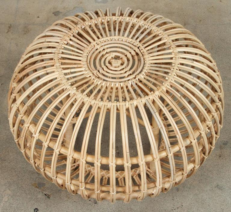 Rattan Ottomans by Franco Albini 3