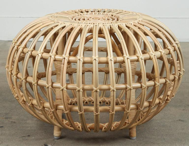 Rattan Ottomans by Franco Albini 6