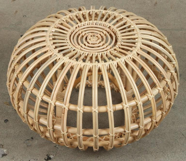 Rattan Ottomans by Franco Albini 7