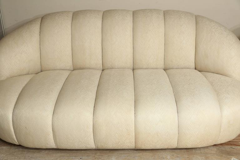 20th Century Modern A. Rudin Channel Back Sofa And Matching Oversized  Lounge Chair For Sale At 1stdibs