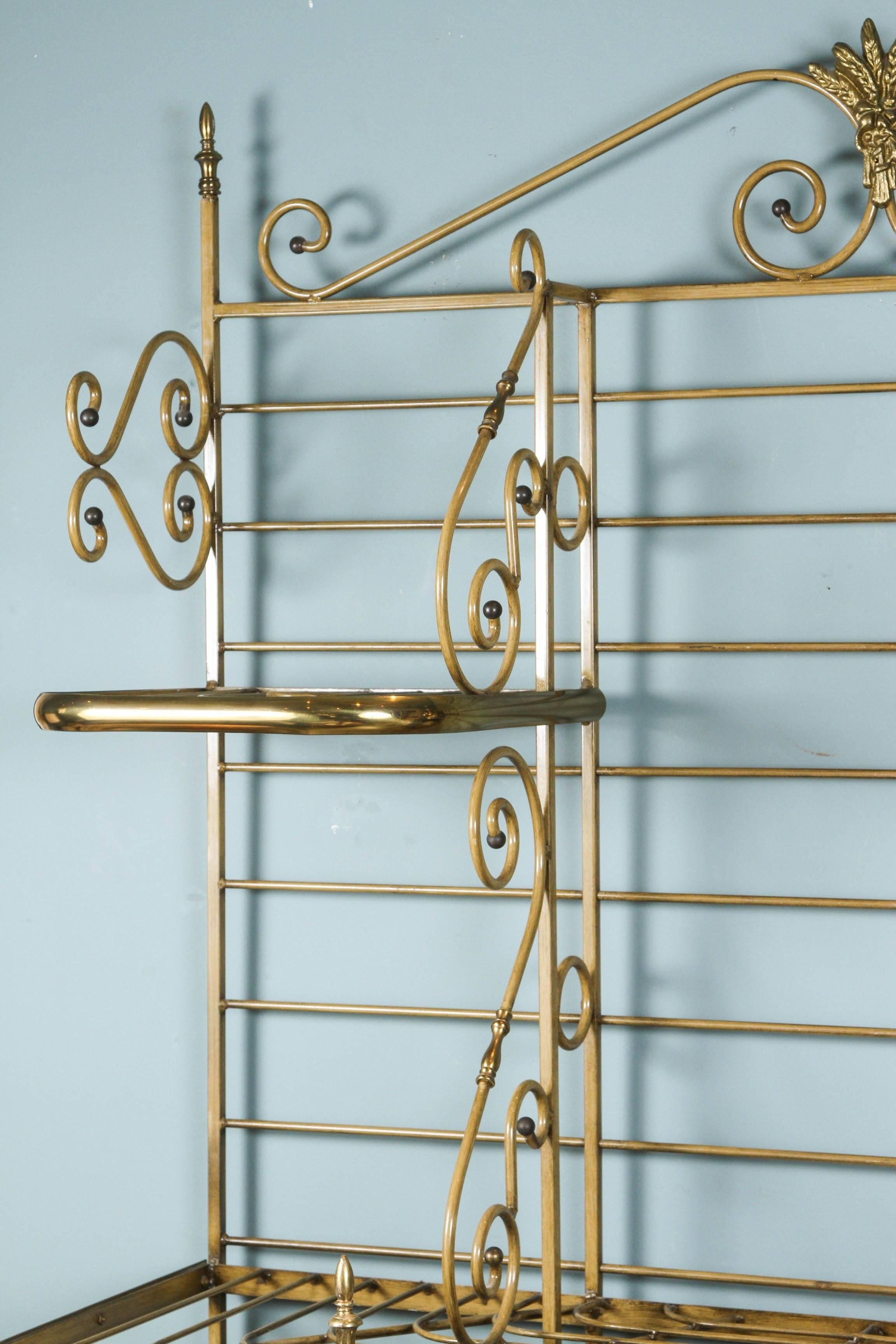 French Iron and Brass Bakers Rack at 1stdibs