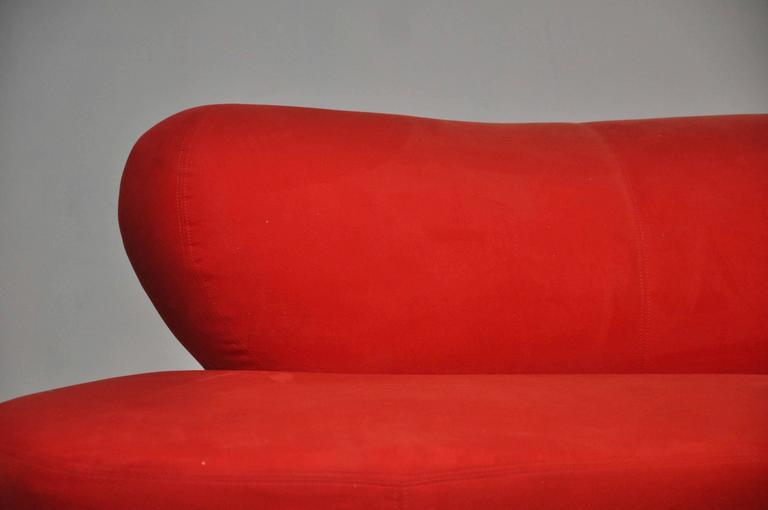 Vladimir Kagan Serpentine Sofa on Chrome Bases For Sale 2