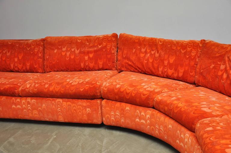 Metropolitan Sectional Sofa In Jack Lenor Larsen Velvet At