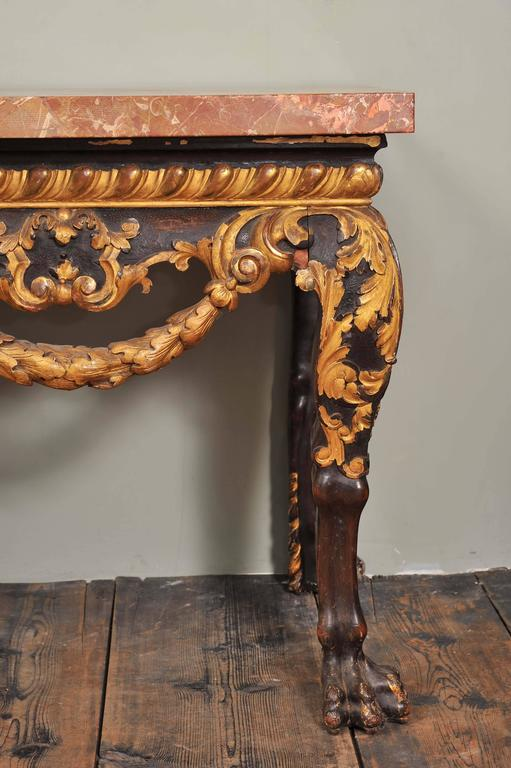 19th Century Mahogany and Parcel-Gilt Centre Table in the George II Style For Sale