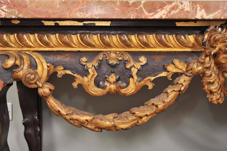 Mahogany and Parcel-Gilt Centre Table in the George II Style For Sale 2