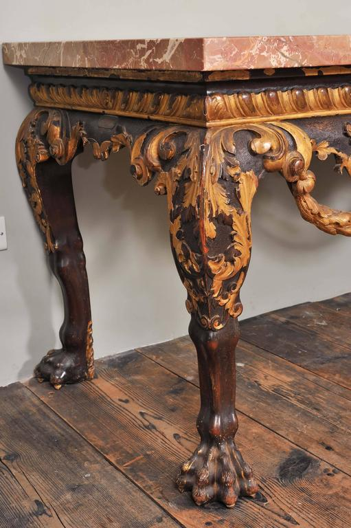 Mahogany and Parcel-Gilt Centre Table in the George II Style For Sale 3