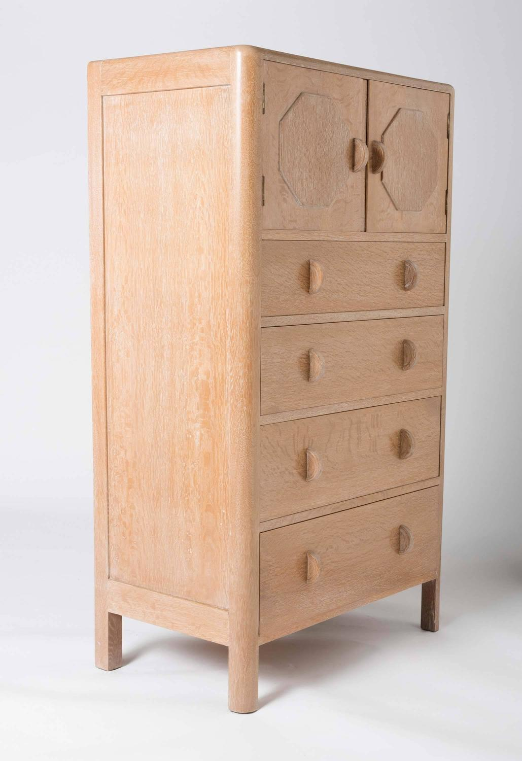 """Rare """"Owl"""" Oak Tallboy By Heals Of London For Sale At 1stdibs"""