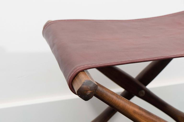 Danish Pair of Folding Stools For Sale