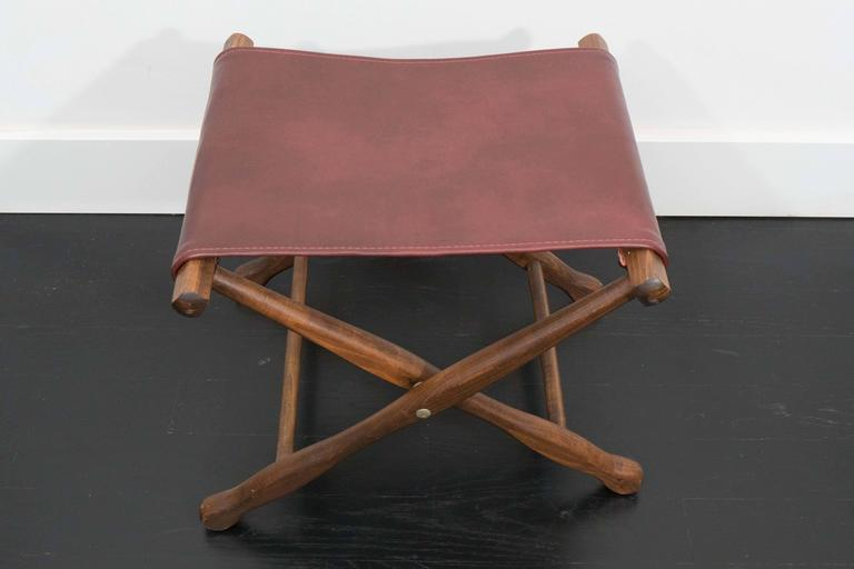 Pair of Folding Stools In Excellent Condition For Sale In New York, NY
