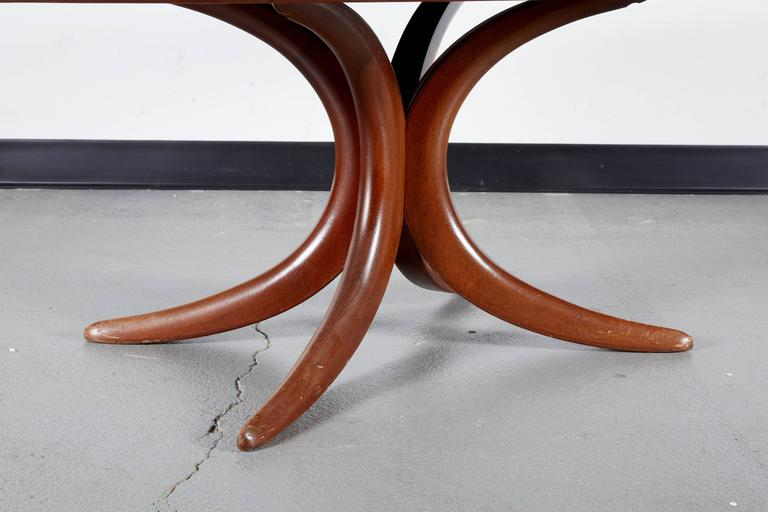 Postmodern Oval Mahogany Coffee Table For 2