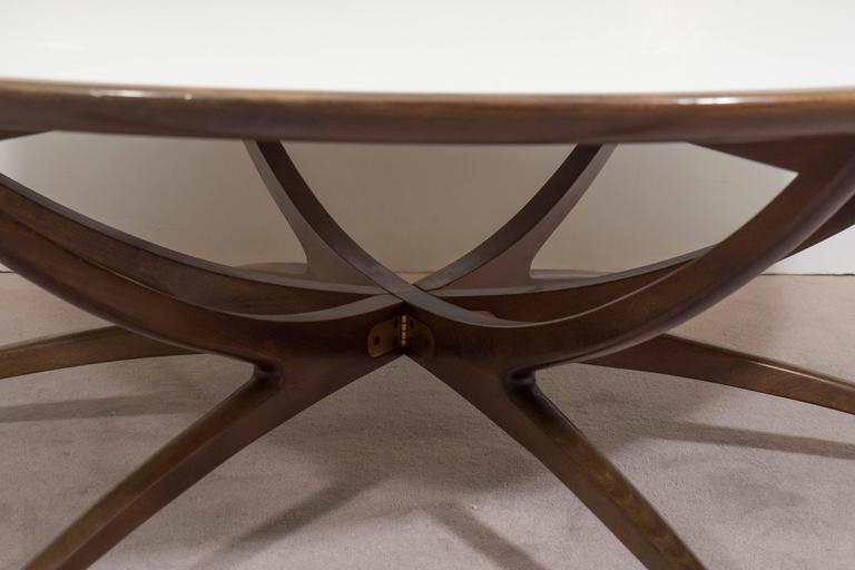 Mid Century Spiderleg Coffee Table In Walnut With Milk