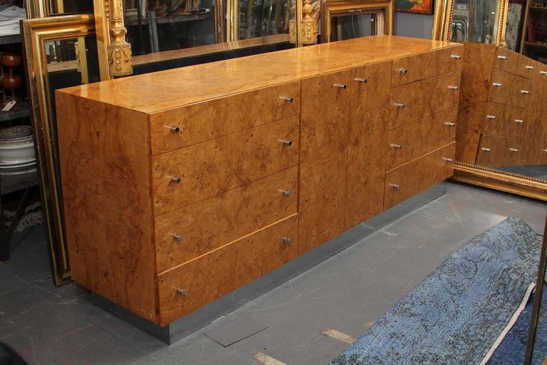 Long, very functional console. Great in large entry, dining or bedroom.