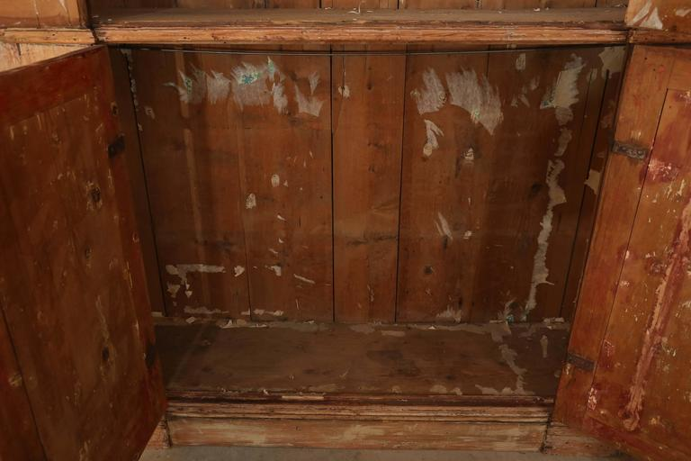 18th Century Italian Pine Original Painted Cabinet 4