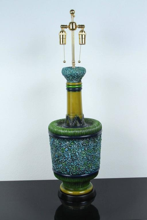 Mid-20th Century Large Psychedelic Ceramic Lamps by Pieri Tullio For Sale