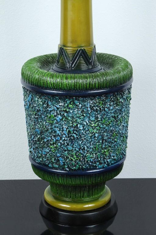 Large Psychedelic Ceramic Lamps by Pieri Tullio For Sale 3
