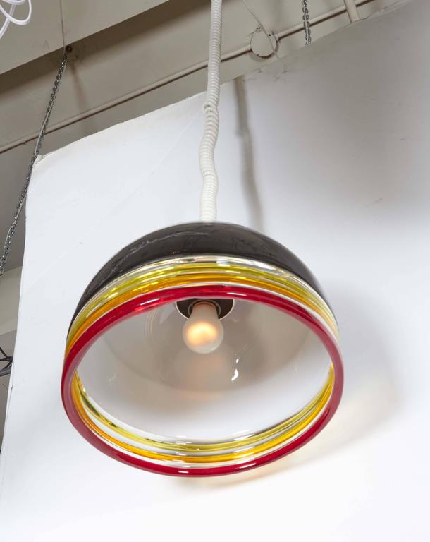 Mid-Century Modern Italian 1970s Pendant Light by Leucos For Sale