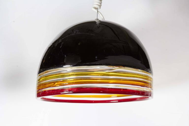 Hand-Crafted Italian 1970s Pendant Light by Leucos For Sale