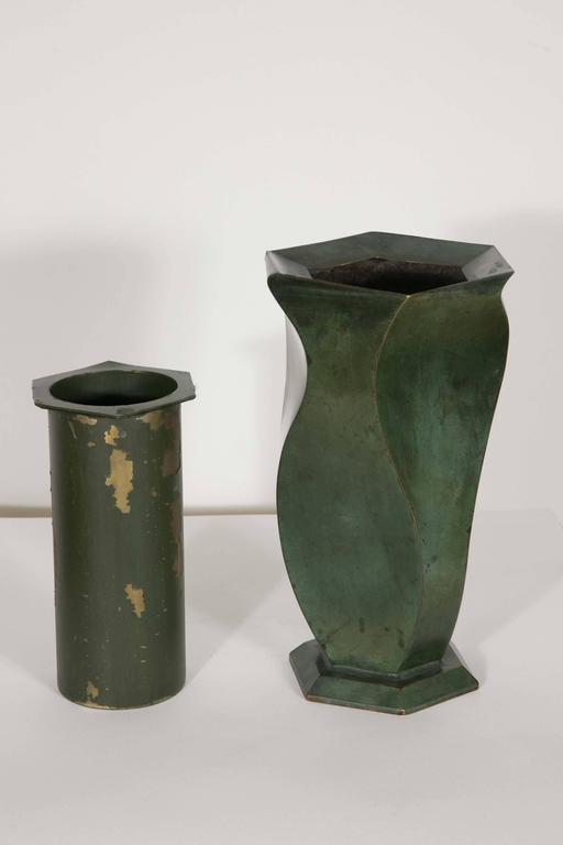 Bronze Vase by Jean Dunand, 1920s For Sale 1