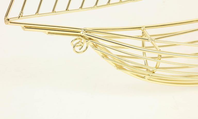 Large Signed Curtis Jere Polished Brass Sail Boat Sculpture For Sale 2