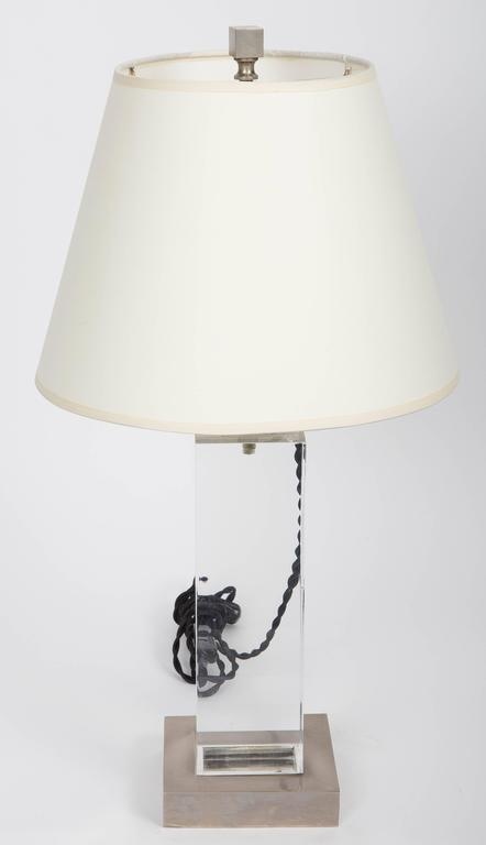 Lucite and Metal Lamp 2