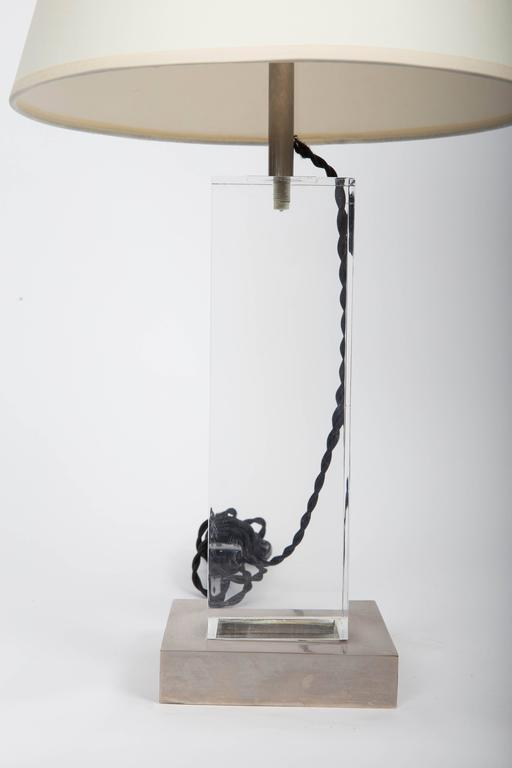 Lucite and Metal Lamp 4