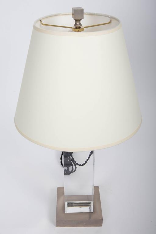 Lucite and Metal Lamp 5