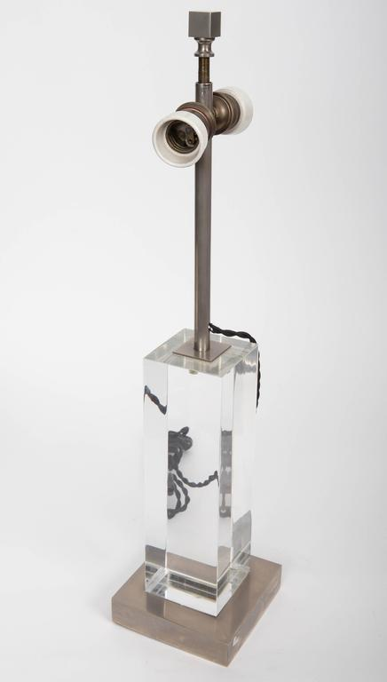 Lucite and Metal Lamp 8