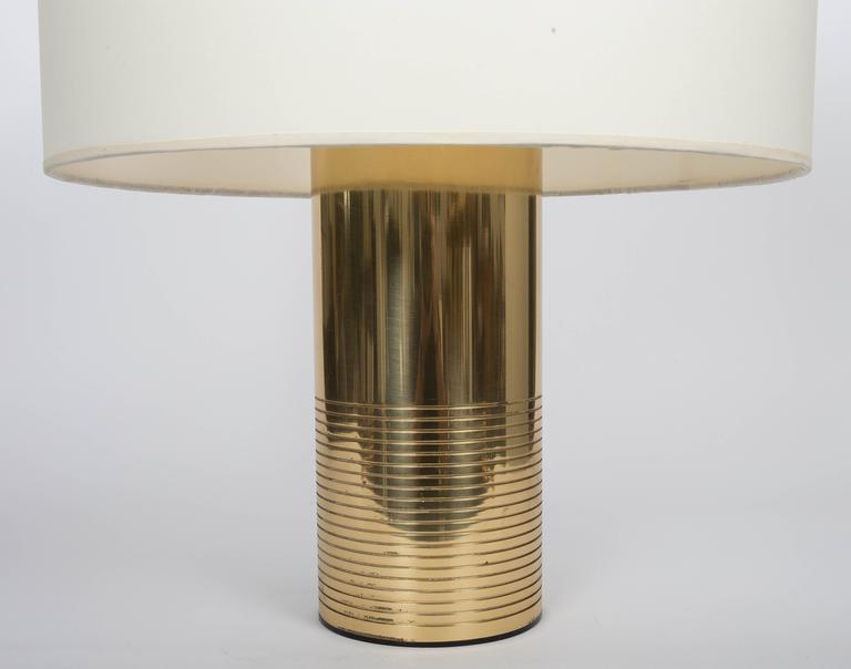 20th Century Round Modern Italian Brass Table Lamp For Sale