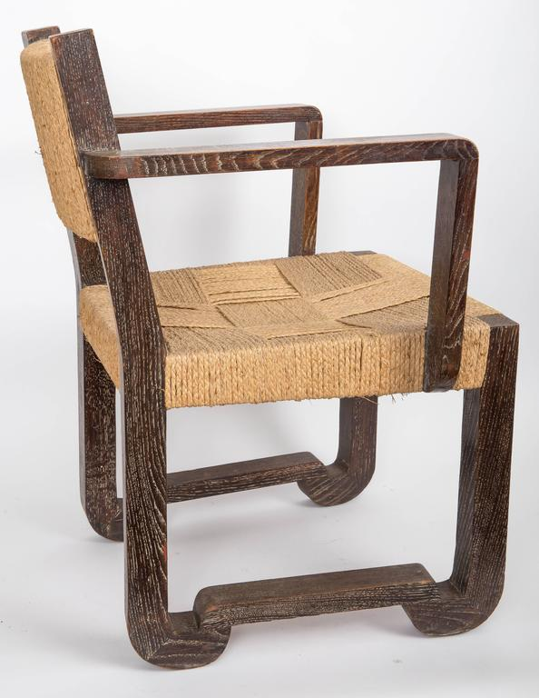 Set of Four Wooden and Rush Side Chairs For Sale 1