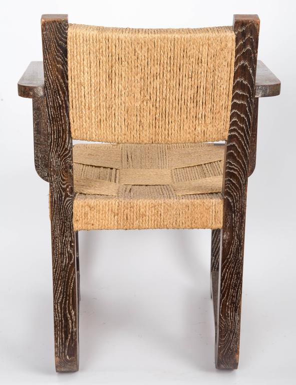 Set of Four Wooden and Rush Side Chairs For Sale 2