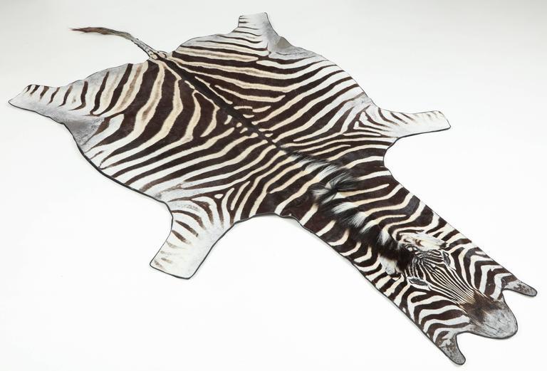 Zebra Rug Vintage At 1stdibs