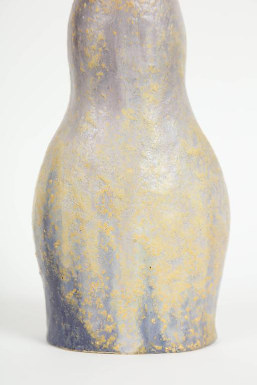 Marcello Fantoni ceramic bottle vase is glazed stoneware made circa 1970s. This piece was acquired directly from the artist by the seller, who was a personal friend of Marcello Fantoni. Glazed signature to underside: [Fantoni].