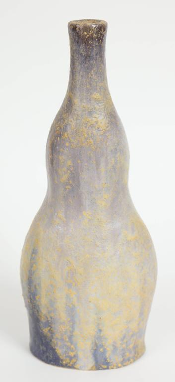 Mid-Century Modern Marcello Fantoni Ceramic Bottle Vase, Glazed Stoneware, circa 1970s For Sale