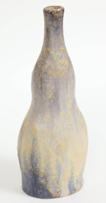 Italian Marcello Fantoni Ceramic Bottle Vase, Glazed Stoneware, circa 1970s For Sale