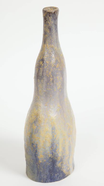 Marcello Fantoni Ceramic Bottle Vase, Glazed Stoneware, circa 1970s In Excellent Condition For Sale In New York, NY