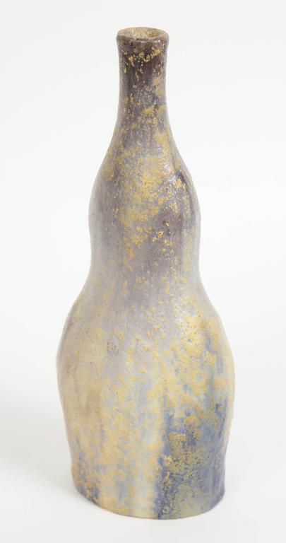 20th Century Marcello Fantoni Ceramic Bottle Vase, Glazed Stoneware, circa 1970s For Sale