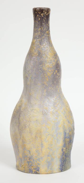 Marcello Fantoni Ceramic Bottle Vase, Glazed Stoneware, circa 1970s 9
