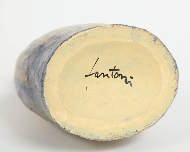 Marcello Fantoni Ceramic Bottle Vase, Glazed Stoneware, circa 1970s 10