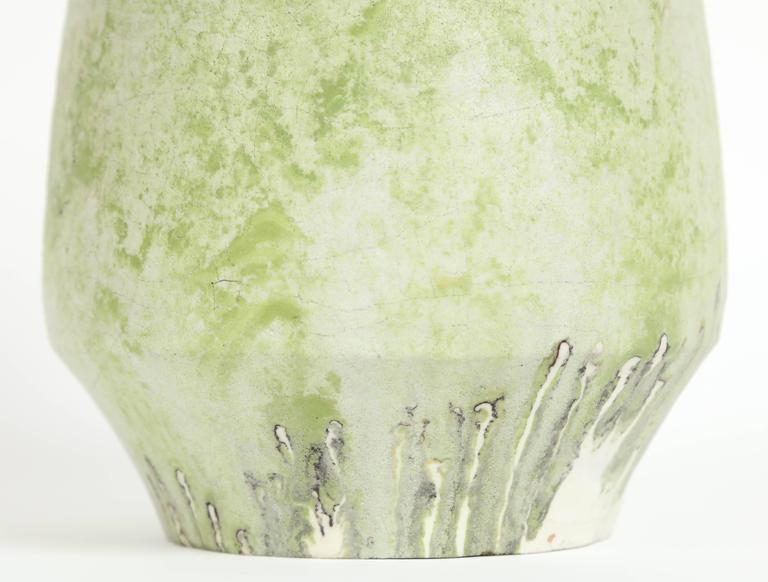 Mid-Century Modern Marcello Fantoni Ceramic Vase, Glazed Stoneware, circa 1970s For Sale